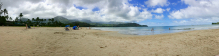 A view of Hanalei Beach.