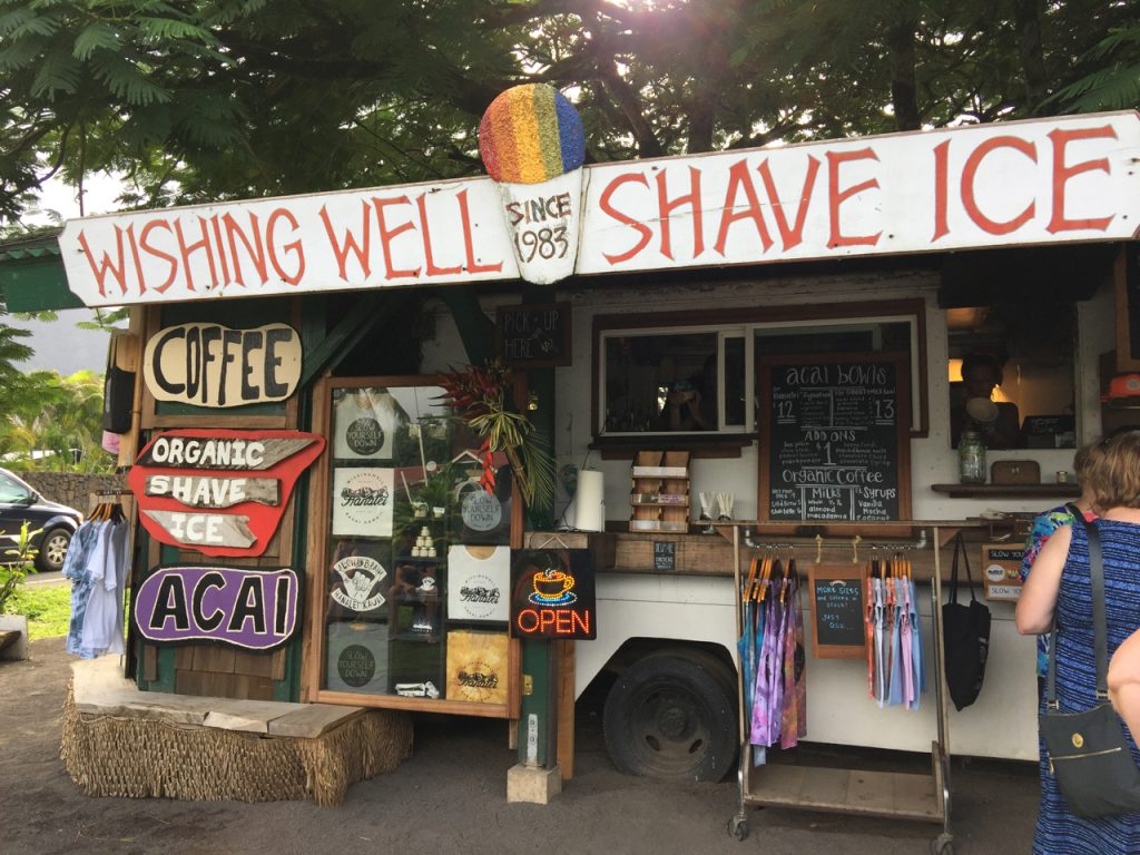 Wishing well shaved ice.