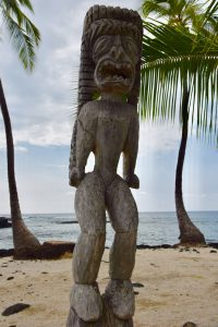 Statue picture at Pu'uhonua o Honaunau National Historical Park