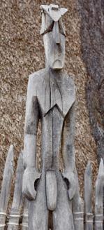 An interesting statue at Pu'uhonua o Honaunau National Historical Park