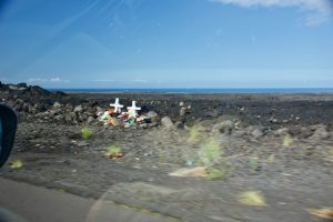 Roadside memorial on the Big Island.