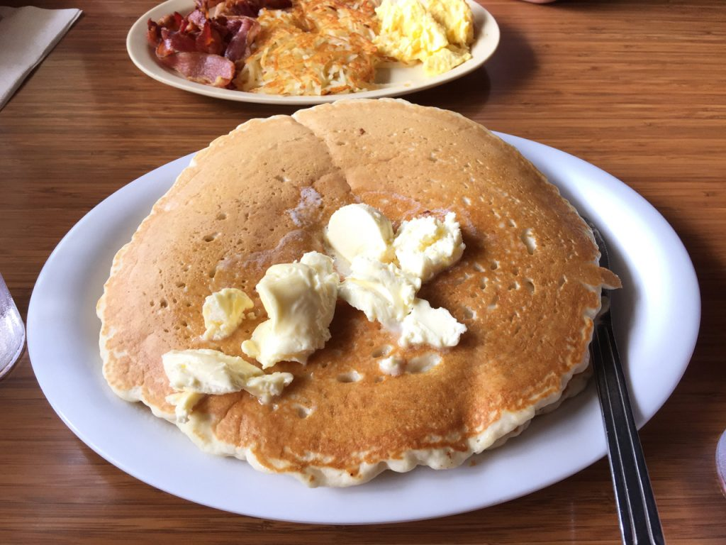 Hawaiin Style Cafe pancake in Hilo, HI