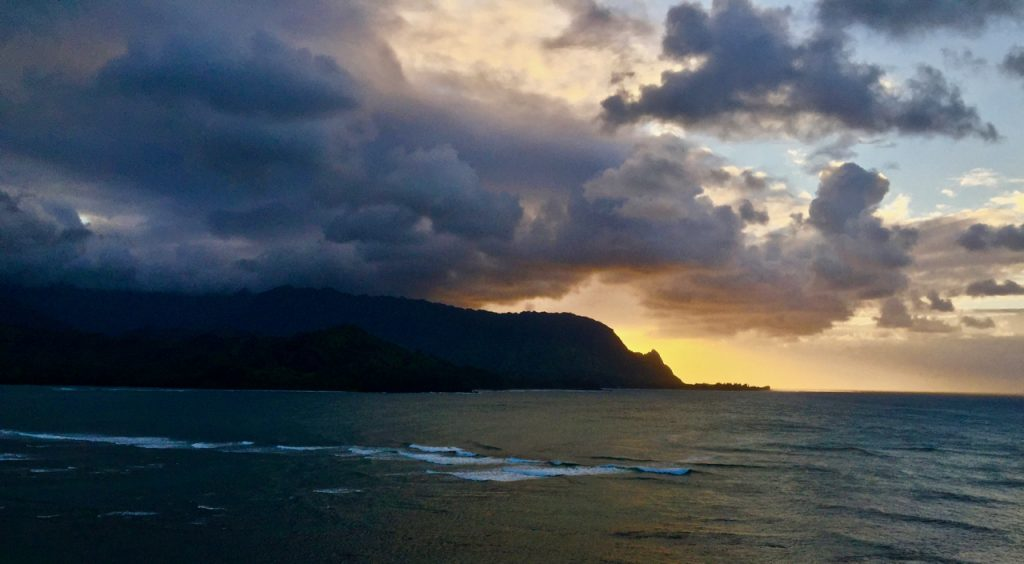 Sunset at the St. Regis in Princeville, Kauai.