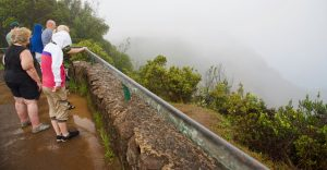 Rain at Pu'u O Kila Lookout.