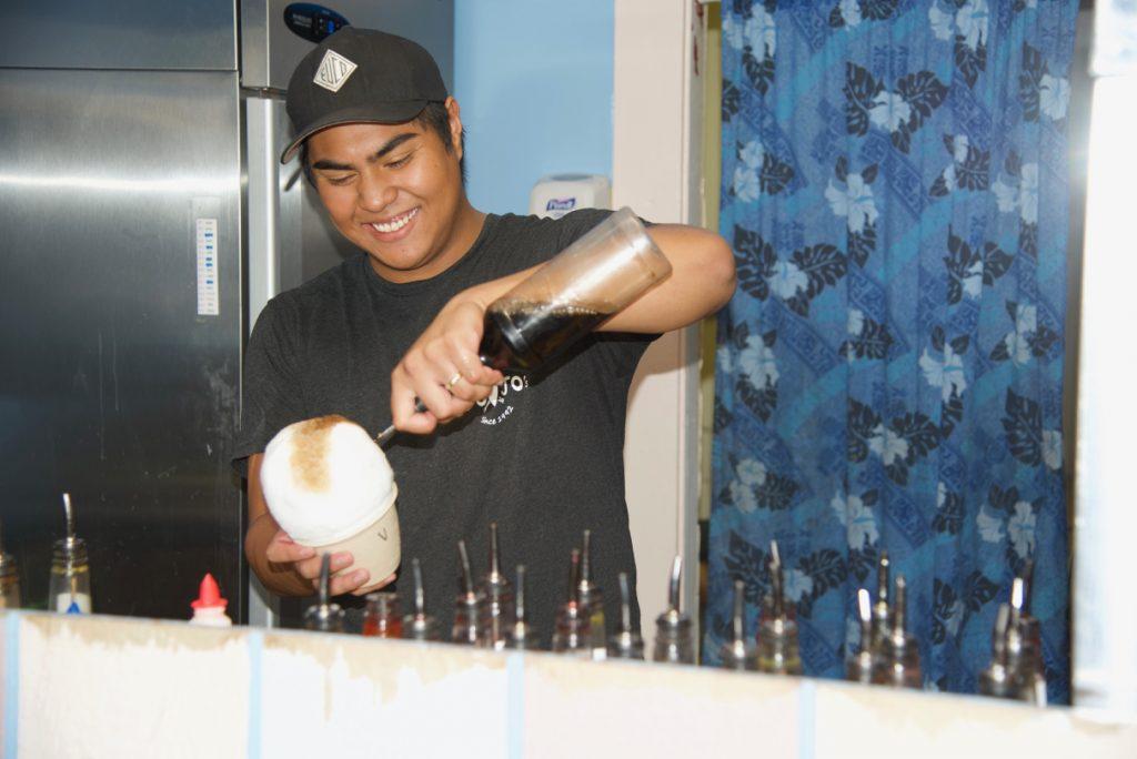 Johs at Jo Jo's shave ice.