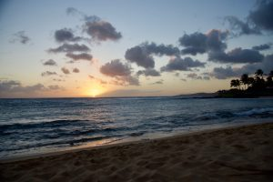 Sunset at Poipu Beach Park