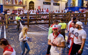 Hosing Down the Pamplona Streets