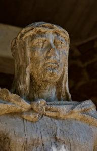 Statue Missing a Nose - Montserrat