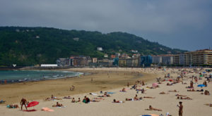 Zurriola Beach - San Sebastian, Spain