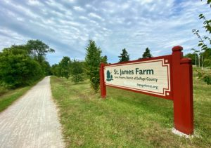 Picture of St. James Farm sign.